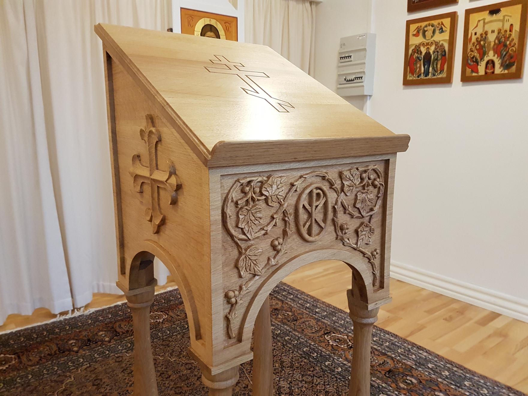 Udførelse af inventar til Ortodokse kirker
